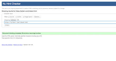 WC HTML Validator